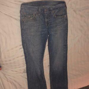 Light wash true religion men's jeans size 32